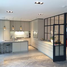 Image result for kitchen with crittall windows