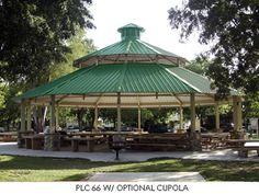 Clerestory Pavilion Pavillion Design, Gazebo Roof, Covered Decks, Roof Design, School Design, Outdoor Structures, Yurts, Kiosk, Shelters