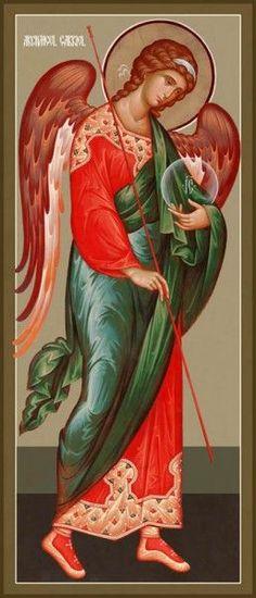 Archangel Gabriel, New Jordanville style by Hieromonk Andrei (Erastov)