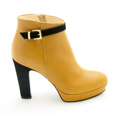 Intramontabile Yellow Ankle Boots Fall 2014 #Schuhe #Shoes #Heels #Booties