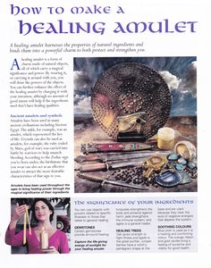 Magick Spells:  How to Make a #Healing #Amulet.
