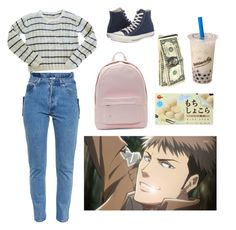 """a pair of Jeans"" by y-a-h-e-l ❤ liked on Polyvore featuring PB 0110, Converse and Vetements"