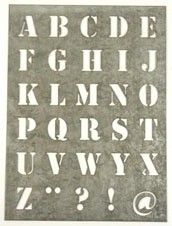 Sjabloon letter XL, zink