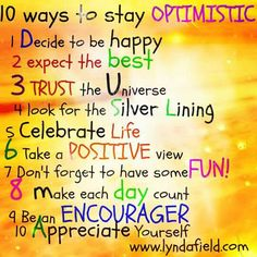 10 Way to stay Optimistic