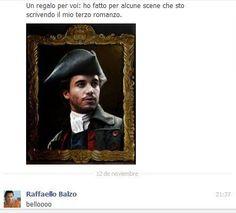 Con Raffaello Balzo via Facebook.