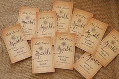 Printable Let Love Sparkle Sparkler Tags DOWNLOAD by VineWedding