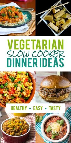 Think the slow cooker is just for meat? No way! Check out this list of vegetarian slow cooker dinner ideas for meatless inspiration.