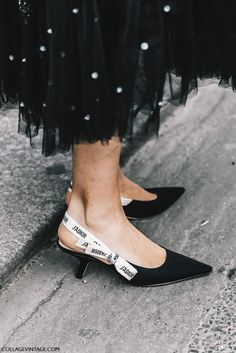 In love with these Dior Black Slingback Ribbon Pumps! In love with these Dior Black Slingback Ribbon Pumps! Slingback Chanel, Slingback Pump, Shoe Boots, Shoes Heels, High Heels, Flat Shoes, Black Tie Attire, Whimsical Fashion, Fall Fashion Trends