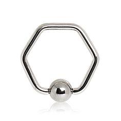Piercing anneau hexagone