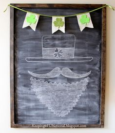 St. Patty's Day Chalkboard from Keeping It FUNctional