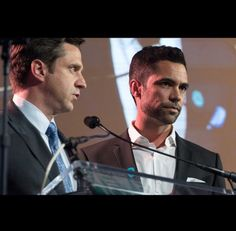 Raul Esparza and Danny Pino at a Joyful Heart Foundation event. From Mariska Hargitay's Instagram