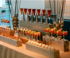 cocktail party table display