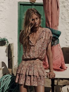 gypsy boho romper for a free spirit modern hippie allure. For the best BOHEMIAN fashion style FOLLOW https://www.pinterest.com/happygolicky/the-best-boho-chic-fashion-bohemian-jewelry-gypsy-/ now.