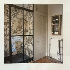 Panelling and marble - shower