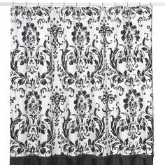 Black And White Damask Shower Curtain cynthia rowley yellow gray white paisley damask shower curtain new