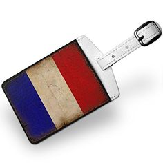 Luggage Tag French Flag with a vintage look Travel ID Bag Tag  Neonblond ** Continue to the product at the image link.Note:It is affiliate link to Amazon. #handsome