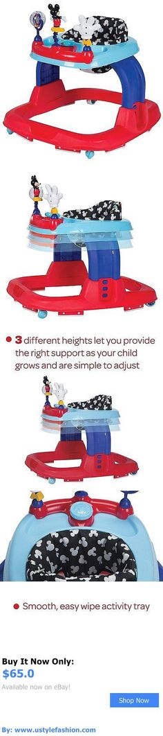 Baby walkers: Safety 1St Ready-Set-Walk Walker, Adjustable Height Baby Walker, Mickey Silo BUY IT NOW ONLY: $65.0 #ustylefashionBabywalkers OR #ustylefashion