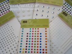 Qbee's Quest: Thursday Tip: Placing Sticky Back Embellishments