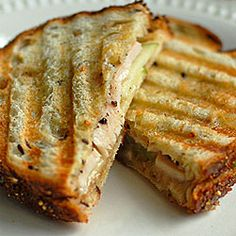 Turkey, Brie and Apple Grilled Sandwich - O & L agree that only granny smith apples will do on this sandwich!