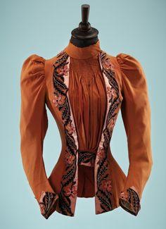 Ephemeral Elegance   Appliqued Wool Bodice, ca. 1890s via Fashion Blog