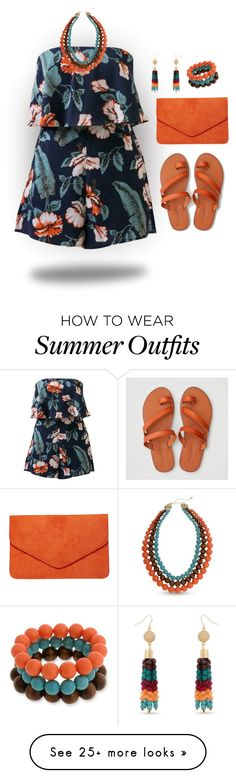 """Romper Outfit"" by curvygirlamy on Polyvore featuring American Eagle Outfitters, Dorothy Perkins and Erica Lyons"