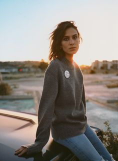 Relaxed fit grey jumper