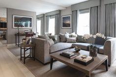 Дизайн интерьера гостиной дома Eaton Mews North в Лондоне