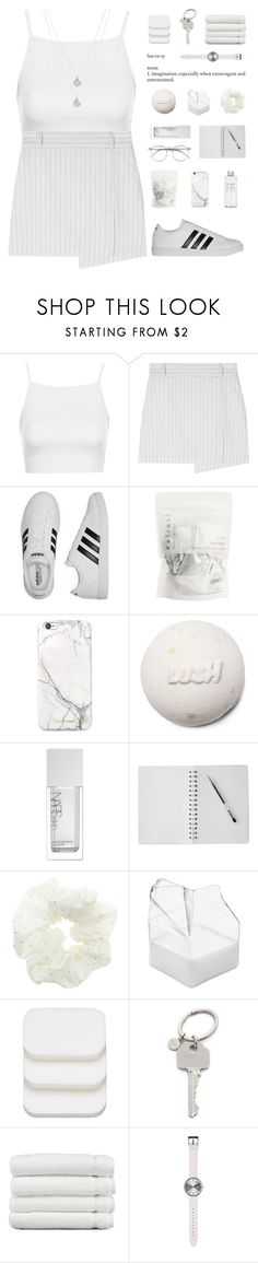 """""""right all my wrongs."""" by nostalgicteen ❤ liked on Polyvore featuring Topshop, adidas, russell+hazel, Muji, NARS Cosmetics, Brickell, COVERGIRL, Paul Smith, Linum Home Textiles and Uniform Wares"""