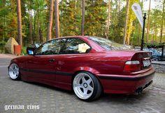 Calypsorot BMW E36 coupe on cult classic OZ Futura wheels