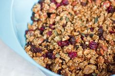 Favourite Homemade Granola  — Oh She Glows, I'll make this for the brunch to go boxes and also for yogurt/granola/fruit parfaits for the brunch menu