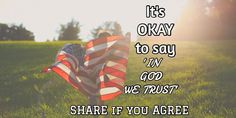 'IN GOD WE TRUST' / SHARE if you AGREE