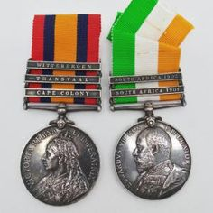 Queen's South Africa Medal (Clasps - Cape Colony, Transvaal & Witterbergen) and King's South Africa Medal (Clasps - South Africa 1901 & South Africa 1902) - 2nd Worcestershire Regiment - P.O.W. | Cultman Collectables