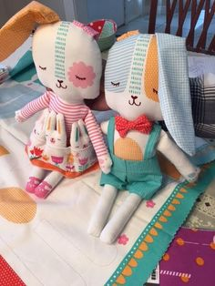 Spring Bunny panel includes the instructions and cut outs for 2 dolls and clothing. Just sew and add your own batting. Panel is approx 35x 44/45 wide. Spring Bunny Fun Panel Multi 20540 11 note: the height/length of the dolls is approx 14.5 finished (without the ears) 100%