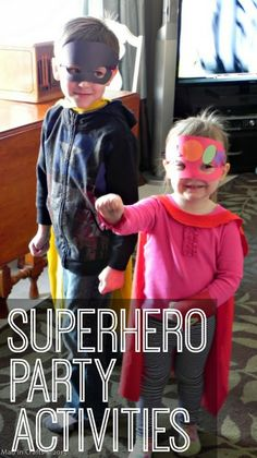 Superhero Party Activities -  Mad in Crafts