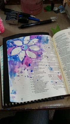 Psalm 119 // found on Bible Art Journaling board of Cindy Byrne