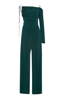 Single Sleeve Jumpsuit by MATÉRIEL for Preorder on Moda Operandi Stage Outfits, Edgy Outfits, Fashion Outfits, Suits For Women, Clothes For Women, Tuxedo Dress, Ootd, Jumpsuit With Sleeves, Blazer Dress