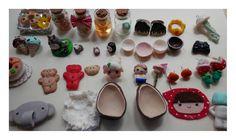Clay miniatures, totoro, mario bros...