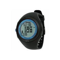 Wci G59M11853B WCI Quality Waterproof GPS Navigation Sports Wrist Watch With Chronograph Stopwatch - Measures Burned Calories And Fat, Speed And Distance - For Training, Exercise, Running, Jogging, Cycling, Etc. - Black/Blue