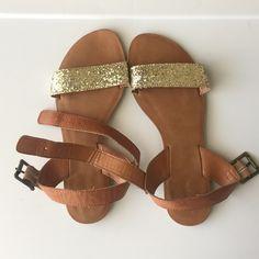 Xhilaration sparkle sandals Sparkle Xhilaration sandals from Target. Good condition. Xhilaration Shoes Sandals