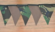 Camouflage / ARMY - Fabric Bunting Party / Bedroom / Decoration 2mtr each - 2.50
