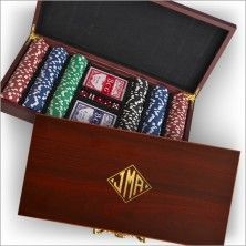 Poker Set - with Monogram