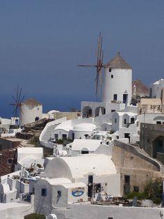 I mulini a vento di Santorini, Grecia