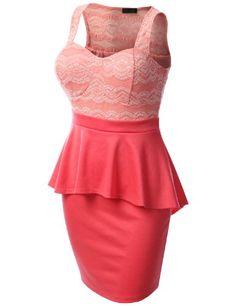 J.TOMSON PLUS Womens Lace Dress Plus Size