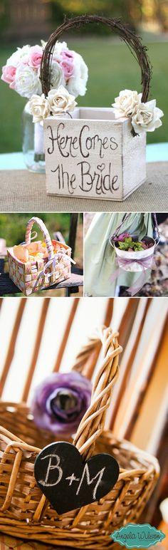 Decoración de cestas para bodas. Ideas para decorar las cestas en vuestra boda y de la decoración de la boda en general.