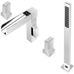 ANZZI Glymur 2-Handle Deck-Mount Roman Tub Faucet