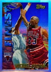 52dbc59bd97 Michael Jordan Cards - 1995-96 Topps Mystery Finest Michael Jordan  Refractor Basketball Court Layout