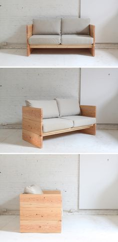 Sofas are one of the more expensive pieces of furniture for your home. This project can be built around any cushions you may already have, or even a mattress to make it into a daybed. Check out the website for the full instructions and material list: http://www.homemade-modern.com/ep66-box-sofa/