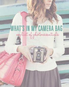 Take a peek inside my camera bag: My list of photo essentials. #photography #equipment