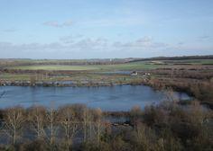Vue des marais de Méricourt sur Somme - Chipilly