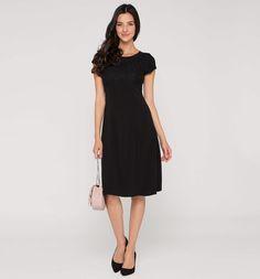 Frontimage view Kleid in schwarz
